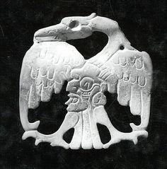 Bird Ornament, Carved Shell. Maya, 7th-8th c.