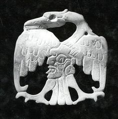 Bird Ornament, Carved Shell. Maya, 7th-8th c.