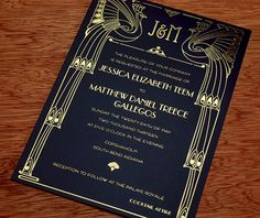 Art Deco Letterpress Wedding Invitation Design Gallery: U0027Chicagou0027 By  Invitations By Ajalon.