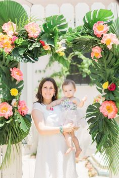 Tropical arch from a Tropical Birthday Party on Kara's Party Ideas | KarasPartyIdeas.com (8)