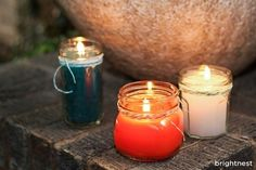 Save money on bug spray this year (and avoid the chemicals in store-bought bug sprays) by making your own citronella candles!