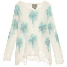 WILDFOX Santa Barbara Palm Sweater found on Polyvore