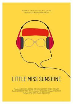 Everybody Loves Little Miss Sunshine until She Magically Makes the Sun Shine. Minimal Movie Poster by Chiara Tovazzi, via Behance. Sun RA Shine Now! Best Movie Posters, Minimal Movie Posters, Minimal Poster, Cinema Posters, Movie Poster Art, Cool Posters, Poster Wall, Poster Prints, Little Miss Sunshine