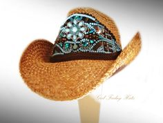cowgirl hat with turquoise