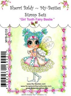 "Sherri Baldy My Besties ""Tooth Fairy Girl"" Clear Stamp *NEW*"