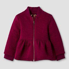 Baby Girls' Peplum Bomber Jacket - Red - Genuine Kids from Oshkosh™. Image 1 of 2.