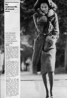 vintage fur-trimmed sweater coat