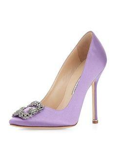 Purple Wedding Shoes by Manolo Blahnik | Dress for the Wedding