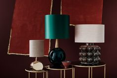 A relation of our modern classic, Cardinal. Bishop is a handsome and distinctive piece, free blown with a rich intensity of colour and crowned with a smoot Luxury Furniture, Furniture Design, Brass Table Lamps, Room Lamp, Unique Lamps, Subtle Textures, Timeless Elegance, Oil Lamps, Beautiful Interiors