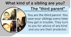 What kind of a sibling are you?