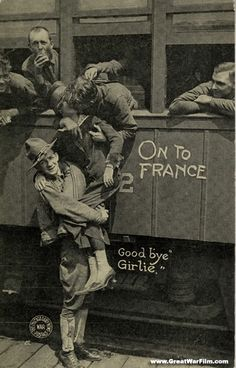 American Soldiers on their way to training for World War One