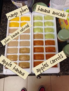 Homemade baby food combos