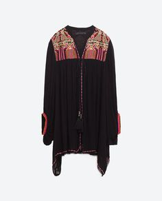 Image 8 of FLOWING EMBROIDERED KIMONO from Zara