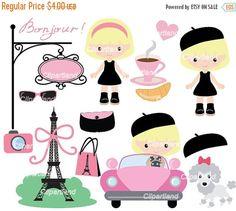 ON SALE INSTANT Download. Cp_28_Paris. Paris clip art. Personal and commercial use.
