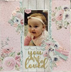 Baby Girl Scrapbook, Baby Scrapbook Pages, Creative Colour, Creative Ideas, Scrapbooking Layouts, Project Life, Flourish, Projects To Try, Card Making