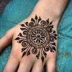 Beautiful Henna with a dream catcher design
