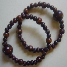 "Motion sickness bracelet set in ""Dark Cocoa"" a stylish nausea remedy for morning sickness nausea, and motion sickness relief at http://www.queasybeads.com"