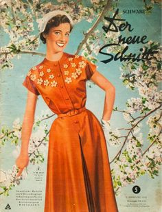 Der Neue Schnitt 5/1953  A vintage sewing pattern magazine from my collection. Full scan.