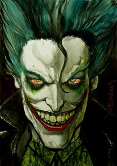 "failed-mad-scientist: "" The Joker - Simon Bisley """