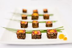 Grilled Shrimp & Polenta bites   Appetizers and Entertaining ...