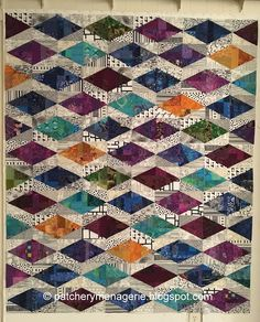 The Patchery Menagerie: Scrap Slab Triangle Quilts