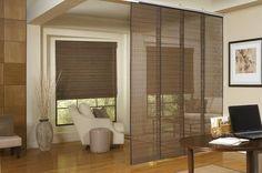 Roman blinds for separators
