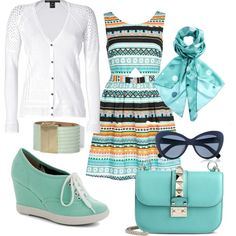 """In blue"" by ulstblog on Polyvore"
