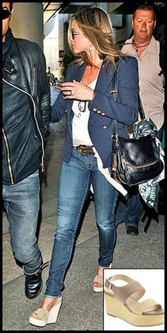 NEED these shoes. Jennifer Anniston wearing Pedro Garcia wedges