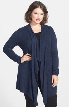 Main Image - Barefoot Dreams® CozyChic Lite® Calypso Wrap Cardigan (Plus Size) (Nordstrom Exclusive) Dress With Cardigan, Wrap Cardigan, Plus Size Dresses, Plus Size Outfits, Lil Black Dress, Plus Size Swim, Barefoot Dreams, Funny Fashion, Kinds Of Clothes