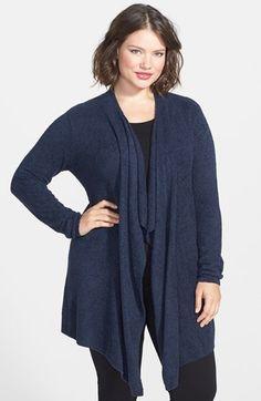 Plus Size Drape Front Cardigan (Plus Size) | Nordstrom
