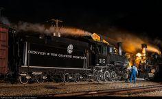 DRGW 315 Denver & Rio Grande Western Railroad Steam 2-8-0 at Silverton, Colorado by Kevin Madore
