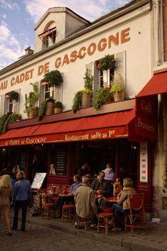 Cafe at Place du Tertre, Montmartre. Paris, France