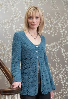 Patternfish crochet cardigan by Gayle Bunn