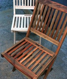 Charmant Project: DIY Renew Outdoor Teak Set