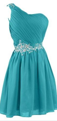 #blue #chiffon #short #shortpromdress #homecomingdress #cocktaildresses…