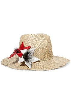 Eugenia Kim - Ailin eel-trimmed straw Panama hat. 80s HatsPanama HatFlower  HatsEugenia KimPolyvoreAccessoriesStraw ... 396270fe1276