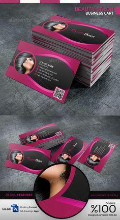 Pink haircut business card pink haircut business cards and card beauty salon business card colourmoves
