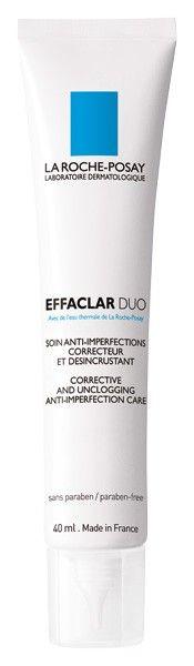 La Roche-Posay Effaclar Duo, 40 ml Cuidado corrector, desobtructor y anti imperfecciones. Elimina las imperfecciones severas de la piel y desobstruye los poros. La piel está más lisa y limpia. Tratamiento equilibrado para devolver todas las cualidades de una piel sana.