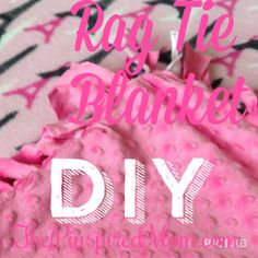 Rag Tie Blanket DIY great for Christmas gifts