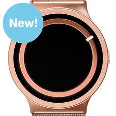 Eclipse metallic (rose gold) watch by Ziiiro. Available at Dezeen Watch Store: www.dezeenwatchstore.com