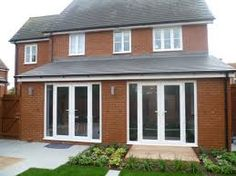 3 bed semi detached house with contemporary decking House Extension Plans, Extension Designs, Rear Extension, Extension Ideas, Extension Google, 1930s Semi Detached House, Orangery Extension, Single Storey Extension, Open Plan Kitchen Living Room