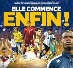 La Une de L'Equipe pour le début de la Coupe du Monde - http://www.actusports.fr/105092/lequipe-debut-coupe-du-monde/
