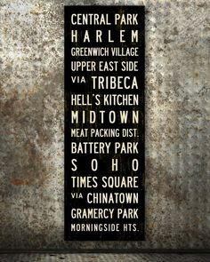 New York Subway Sign or Bus Scroll.