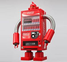 Coca-Cola Robot: Those fortunate enough to live in Tokyo have recently sighted lifesize Coca-Cola robots wandering the streets.