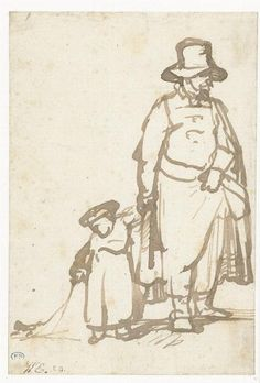 Man with boy.  Rembrandt  1643