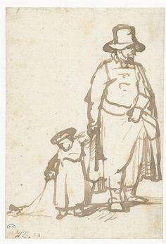 Man with boy.  Rembrandt  1643