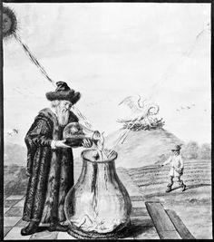 Alchemical Imagery - Emblematic - Manuscripts - Theatrum astronomiae terrestris - Dresden Ms N. Medieval Drawings, Tarot, Alchemy Art, Masonic Symbols, Esoteric Art, Occult Art, Greatest Mysteries, White Magic, Freemasonry