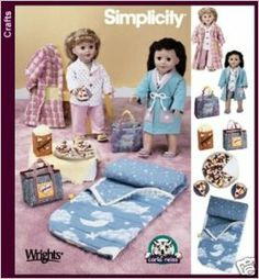18 Inch Doll Accessories | 5224 - 18-inch Doll Clothes - Patterns for Sleepwear and Accessories ...