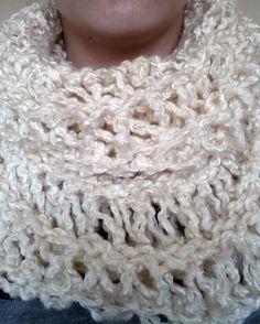 Oversized Drop Stitch Cowl #knit #knitting #etsy #saramarie