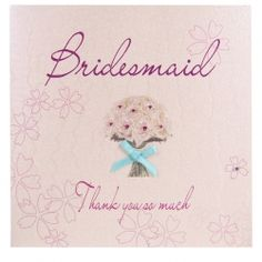 Bouquet Thank You Bridesmaid Card Lucy Kate and hannah